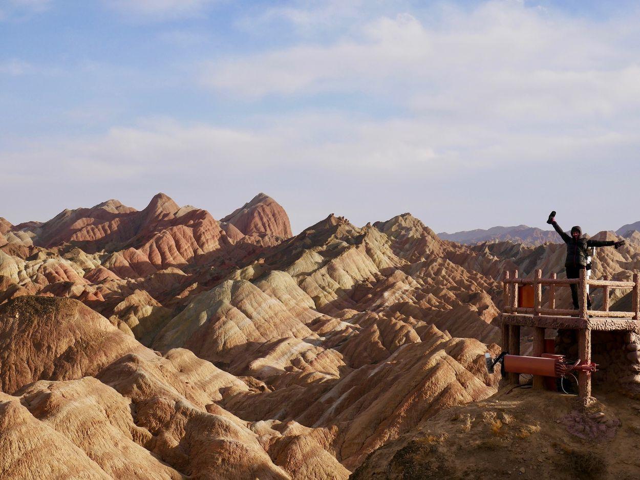 gekleurde bergen in china